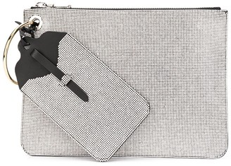 Ermanno Scervino Rhinestone-Embellished Zipped Clutch