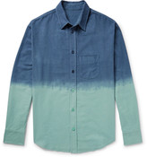 The Elder Statesman - Dip-dyed Cotton-flannel Shirt
