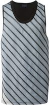 Lanvin diagonal stripe vest - men - Cotton - S
