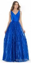 Morrell Maxie Embroidered V-neck A-line Evening Dress