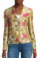 Etro Floral Print Slim-Fit Jacket