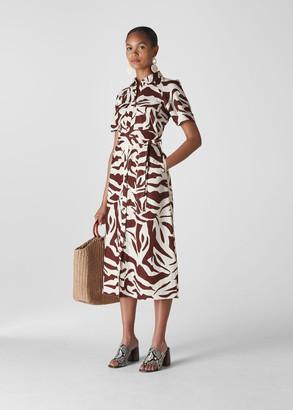 Graphic Zebra Shirt Dress