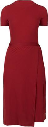 Rosetta Getty Wrap-Effect Cotton-Jersey Dress