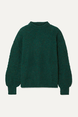 Anine Bing Jolie Ribbed-knit Sweater - Forest green
