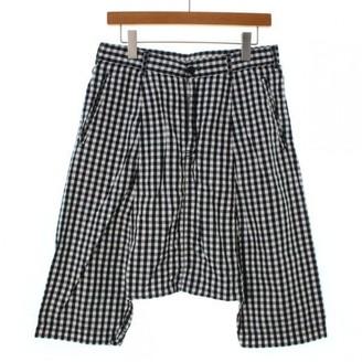Comme des Garcons Black Cotton Shorts for Women