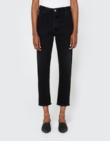 RE/DONE High Rise Ankle Crop in Black