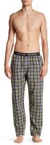 Thomas Pink Herringbone Plaid Fine Cotton Pajama Pant