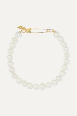 Loren Stewart 14-karat Gold Pearl Bracelet - one size