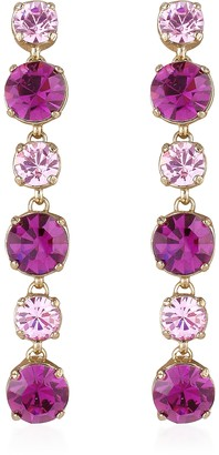 A-Z Collection Pink & Amethyst Drop Earrings