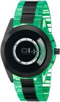 01 The One 01TheOne AN08G10 42mm Stainless Steel Case Green Resin Mineral Men's Watch