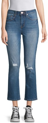 Seven7 High-Rise Flared Cropped Jeans
