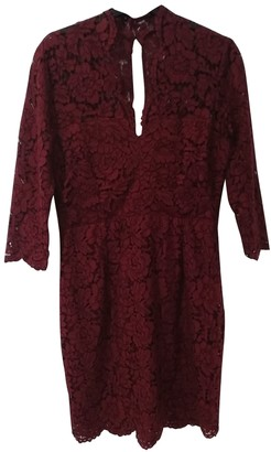 SET Burgundy Cotton Dress for Women
