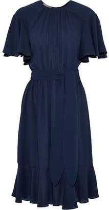Michael Kors Gathered Silk Crepe De Chine Dress