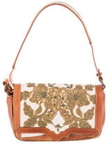 Dries Van Noten Embroidered Leather Shoulder Bag