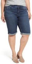 Melissa McCarthy Plus Size Women's Embroidered Denim Bermuda Shorts