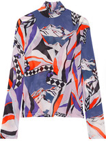 Emilio Pucci Printed Stretch-crepe Top - Purple