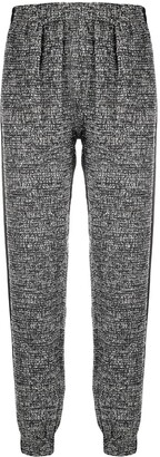 Styland Knitted Track Pants With Logo Patch Detail
