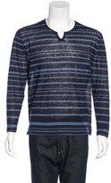 John Varvatos Striped Long Sleeve T-Shirt