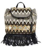 Rebecca Minkoff Taj Fringe Embellished Backpack