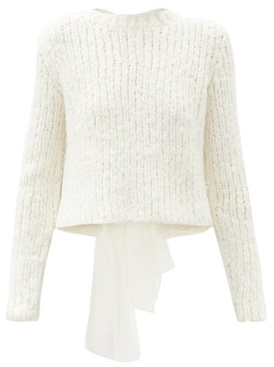 Cecilie Bahnsen Lou Bow-back Silk Sweater - Ivory
