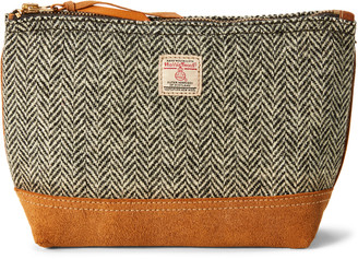 Ralph Lauren Harris Tweed#174 Suede Pouch