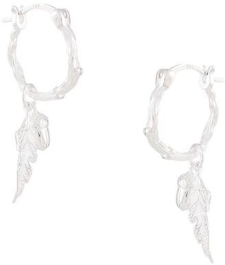 Karen Walker Acorn & Leaf Mini Hoop Earrings
