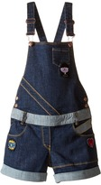 Little Marc Jacobs Denim Dungaree with Fancy Patches Girl's Overalls One Piece
