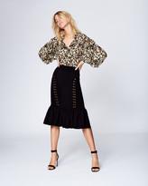 Nicole Miller Giselle Ruffled Bottom Skirt