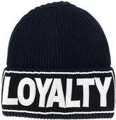 Versace Loyalty Manifesto beanie hat