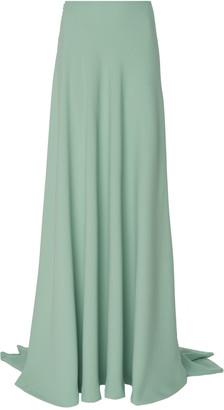 Costarellos Crepe High-Waist Maxi Skirt