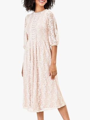 Oasis Daisy Lace Midi Dress