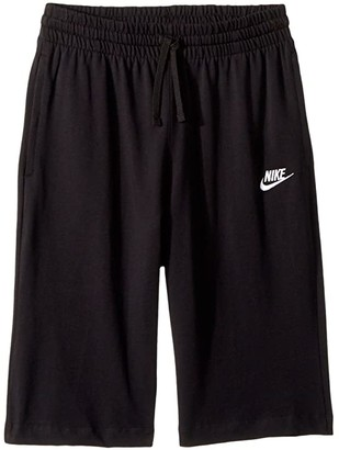 Nike Sportswear Short (Big Kids) (Black/White) Boy's Shorts