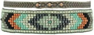 LeJu London Bracelet Set in Turquoise & Metallic Tones