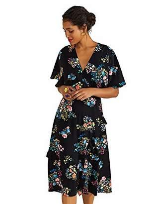 Yumi Spring Time Floral Print Kimono Dress