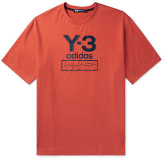 Y-3 Y 3 Logo-Print Cotton-Jersey T-Shirt