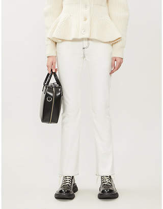 Alexander McQueen Contrast-stitch mid-rise skinny jeans