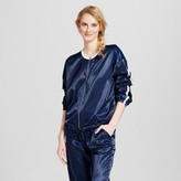 Mossimo Women's Satin Jacket Navy