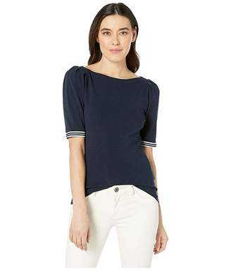 Lauren Ralph Lauren Petite Ribbon-Sleeve Boat Neck Top