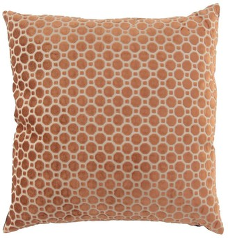 """Willow Row Large Square Geometric Throw Pillow - Brown - 24"""" x 6"""" x 24"""""""