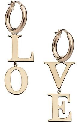 Jennifer Zeuner Jewelry Madelyn 14K Goldplated Love Drop Earrings