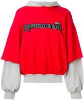 Gosha Rubchinskiy layered hoodie