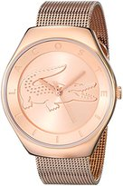 Lacoste Women's 2000872 Valencia Rose Gold-Tone Stainless Steel Watch