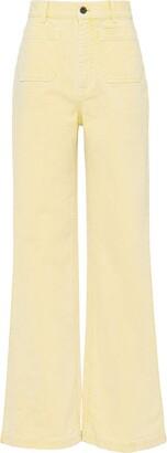 Miu Miu High-Waisted Flared Jeans