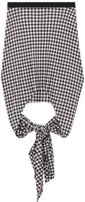 Burberry Gingham Print Back Tie Skirt