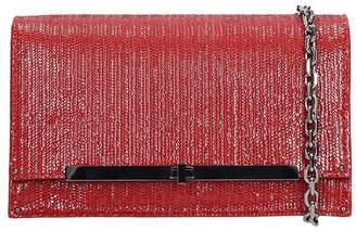 Casadei Fish Mooney Clutch In Red Leather