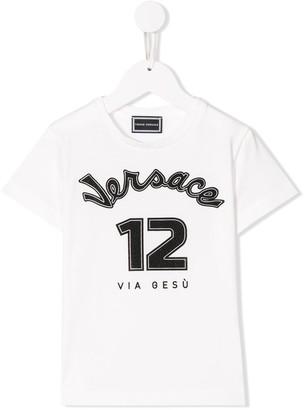 Versace baseball print T-shirt