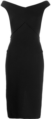 Roland Mouret Amarula fitted midi dress