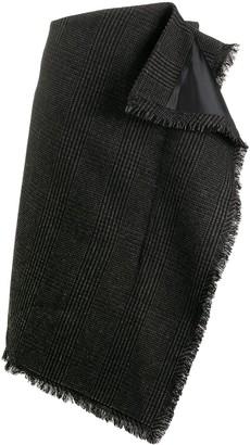 Sacai Houndstooth Asymmetric Skirt