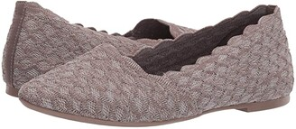 Skechers Cleo - Honeycomb (Dark Taupe) Women's Flat Shoes