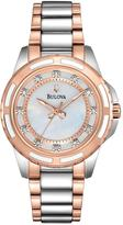 Bulova Diamond Set Dial Bicolour Bracelet Ladies Watch